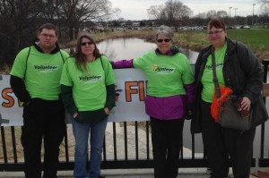 MS Walk - AGA Southern Wisconsin Team Pictured (left to right): Creole Schmaltz, Kelly Williams-Schmaltz, Mary Williams, Sherri Voigt.    You can still donate at the AGA Southern WI Chapter Team site.